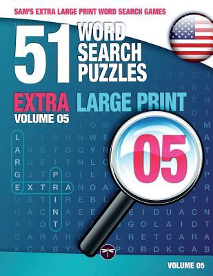 Sam's Extra Large Print Word Search Games, 51 Word Search Puzzles, Volume 5