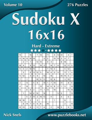 Sudoku X 16x16 Hard to Extreme