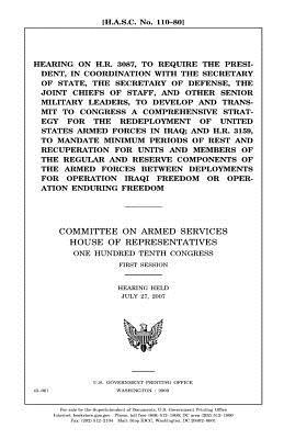 Hearing on H.R. 3087, to require the President, in coordination with the Secretary of State, the Secretary of Defense, the Joint Chiefs of Staff, and ... a comprehensive strategy for the redep