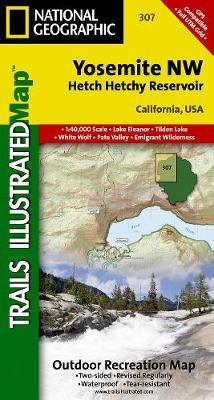National Geographic Trails Illustrated Map Yosemite NW, Hetch Hetchy Reservoir