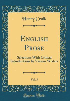 English Prose, Vol. ...