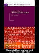 Dictionary of Environmental Health