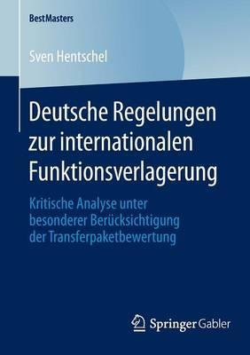 Deutsche Regelungen Zur Internationalen Funktionsverlagerung