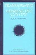 Transforming the Hermeneutic Context