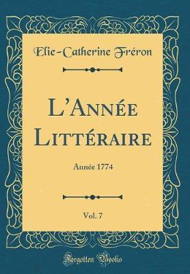 L'Année Littéraire...