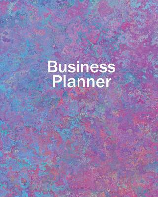 """Business Planner 8"""" x 10"""" - Planner, Organizer and Record-Keeper - Pink and Blue"""