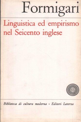 Linguistica ed empirismo nel Seicento inglese
