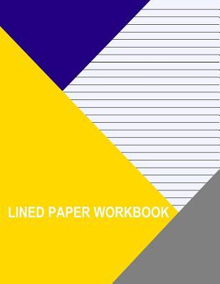 Blue With Narrow Black Lines Lined Workbook