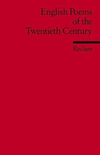 English poems of the twentieth century