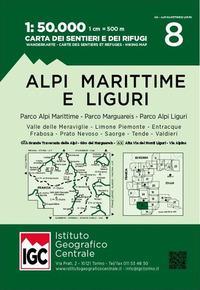 Carta n. 8 Alpi Marittime e Liguri 1
