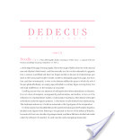 Dedecus: A Dictionary, part II