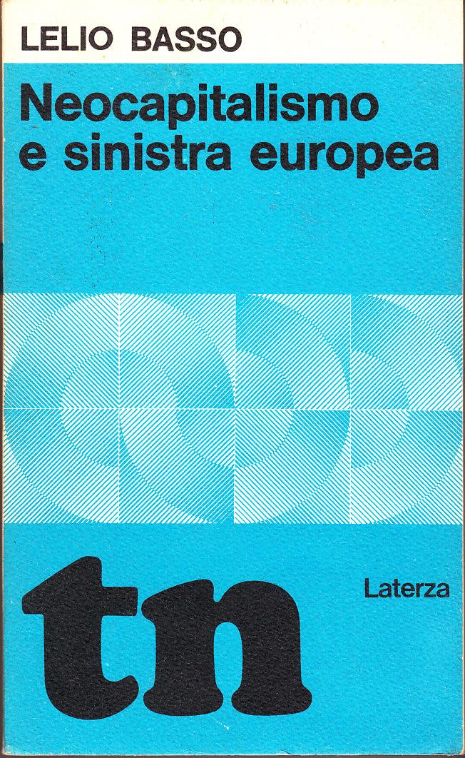 Neocapitalismo e sinistra europea