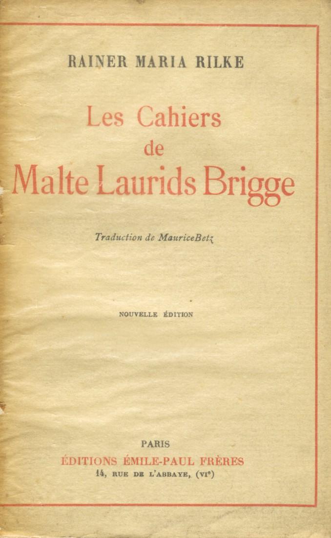 Les Cahiers de Malte...
