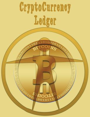 CryptoCurrency BitCoin Ledger 202 Pgs 6 Col/Page 8.5X11- Gold Bitcoin Man Symbol