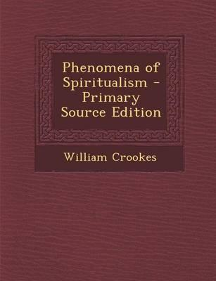 Phenomena of Spiritualism