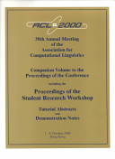 ACL Proceedings 2000 Conf