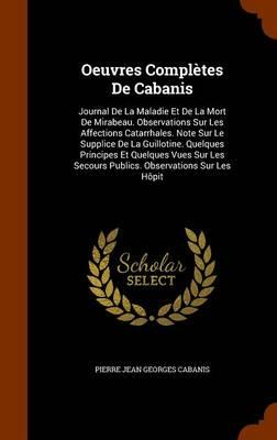 Oeuvres Completes de Cabanis