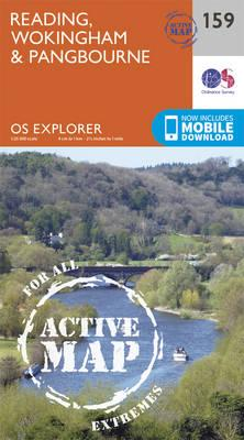 OS Explorer Map Active (159) Reading, Wokingham and Pangbourne