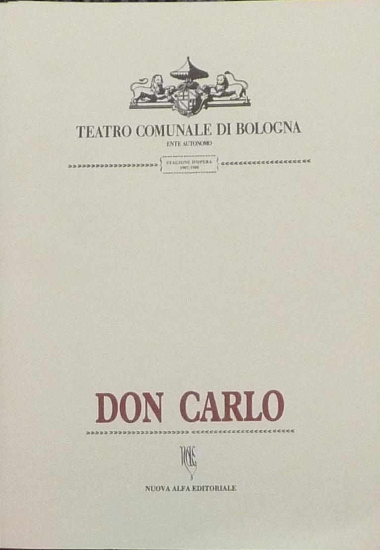 Don Carlo - G. Verdi