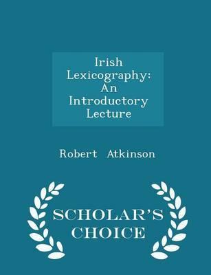 Irish Lexicography