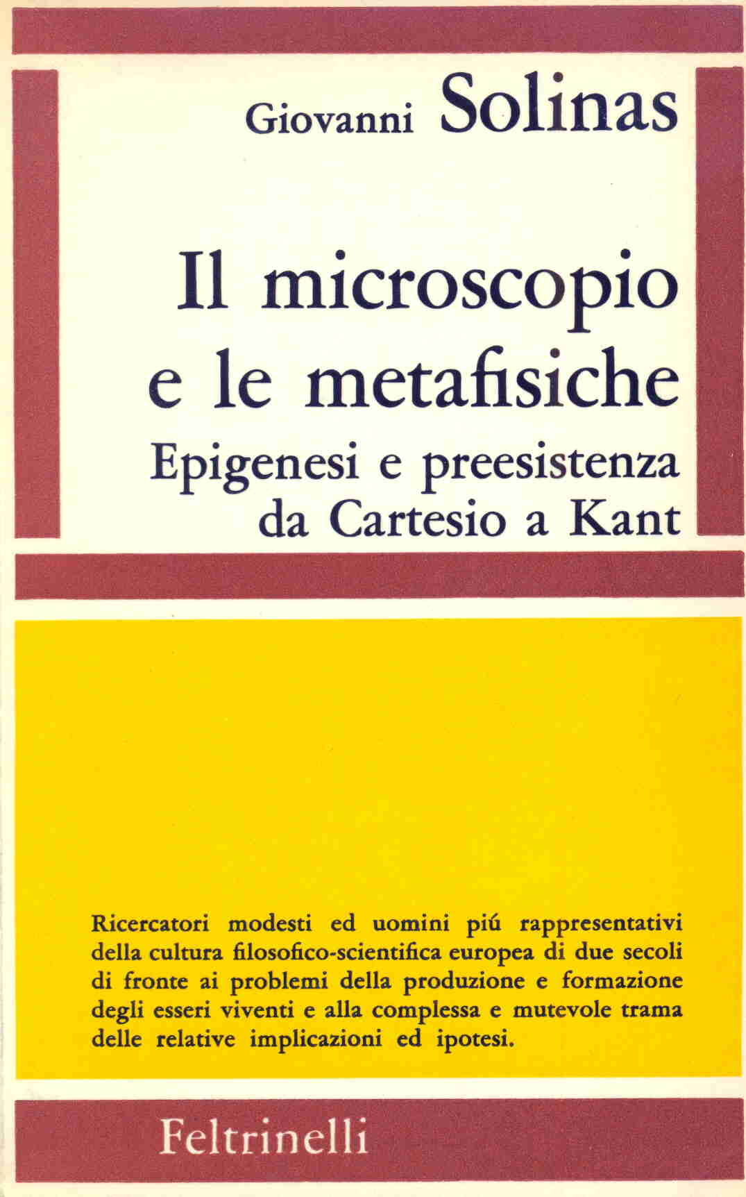 Il microscopio e le metafisiche