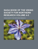 Saga Book of the Viking Society for Northern Research