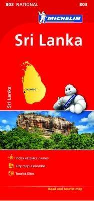 Sri Lanka NATIONAL Map (Michelin National Maps)