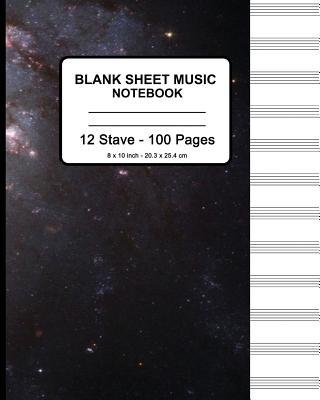 Blank Sheet Music Notebook - Stars In Space