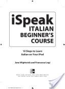 iSpeak Italian Beginner's Course (MP3 CD   Guide)