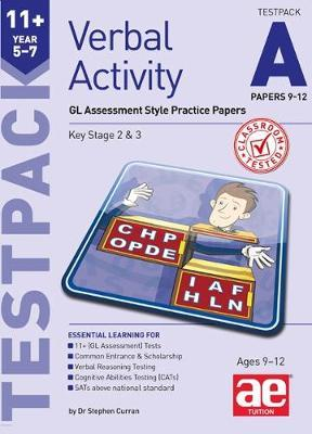 11+ Verbal Activity Year 5-7 Testpack A Papers 9-12