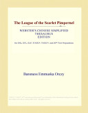 The League of the Scarlet Pimpernel (Webster's Chinese Simplified Thesaurus Edition)
