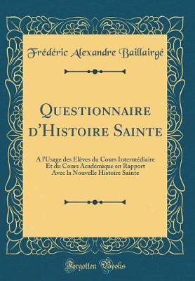Questionnaire d'Histoire Sainte