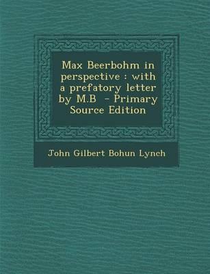 Max Beerbohm in Perspective