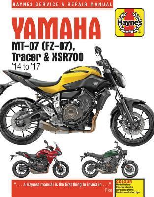 Yamaha Mt-07, '14-'17 Haynes Repair Manual