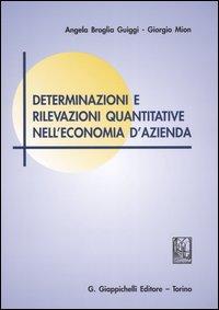 Determinazioni e rilevazioni quantitative nell'economia d'azienda