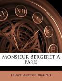 Monsieur Bergeret a Paris