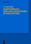 Wörterbuch der Kollokationen im Deutschen