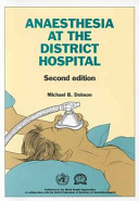 Anaesthesia at the District Hospital