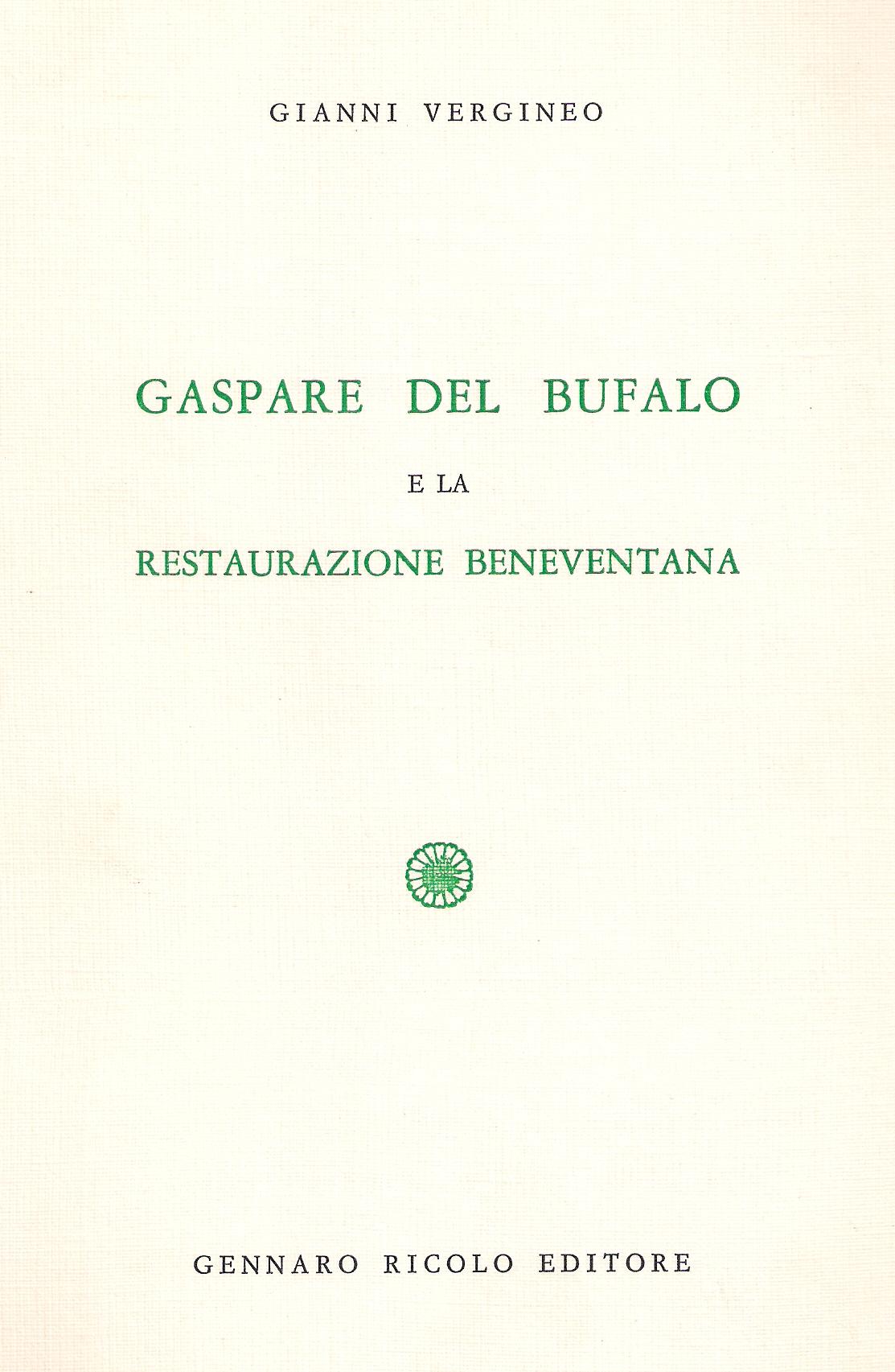 Gaspare del Bufalo e la restaurazione beneventana