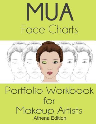 Mua Face Charts Portfolio Workbook for Makeup Artists Athena Edition