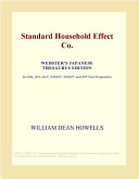 Standard Household Effect Co. (Webster's Japanese Thesaurus Edition)