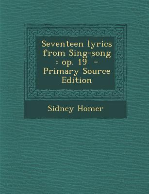 Seventeen Lyrics from Sing-Song