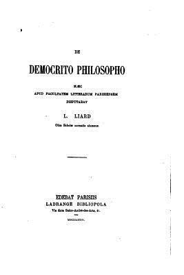 De Democrito Philosopho