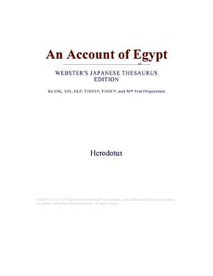 An Account of Egypt (Webster's Japanese Thesaurus Edition)
