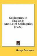 Soliloquies in Engla...