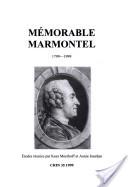 Mémorable Marmontel, 1799-1999