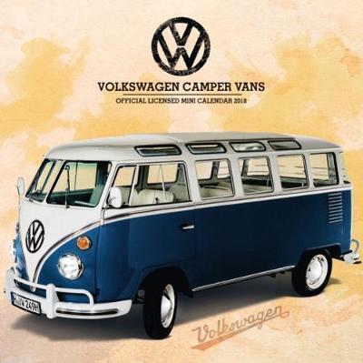 VW Camper Vans Mini Official 2018 Calendar