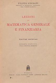 Lezioni di Matematica generale e finanziaria - Vol. I