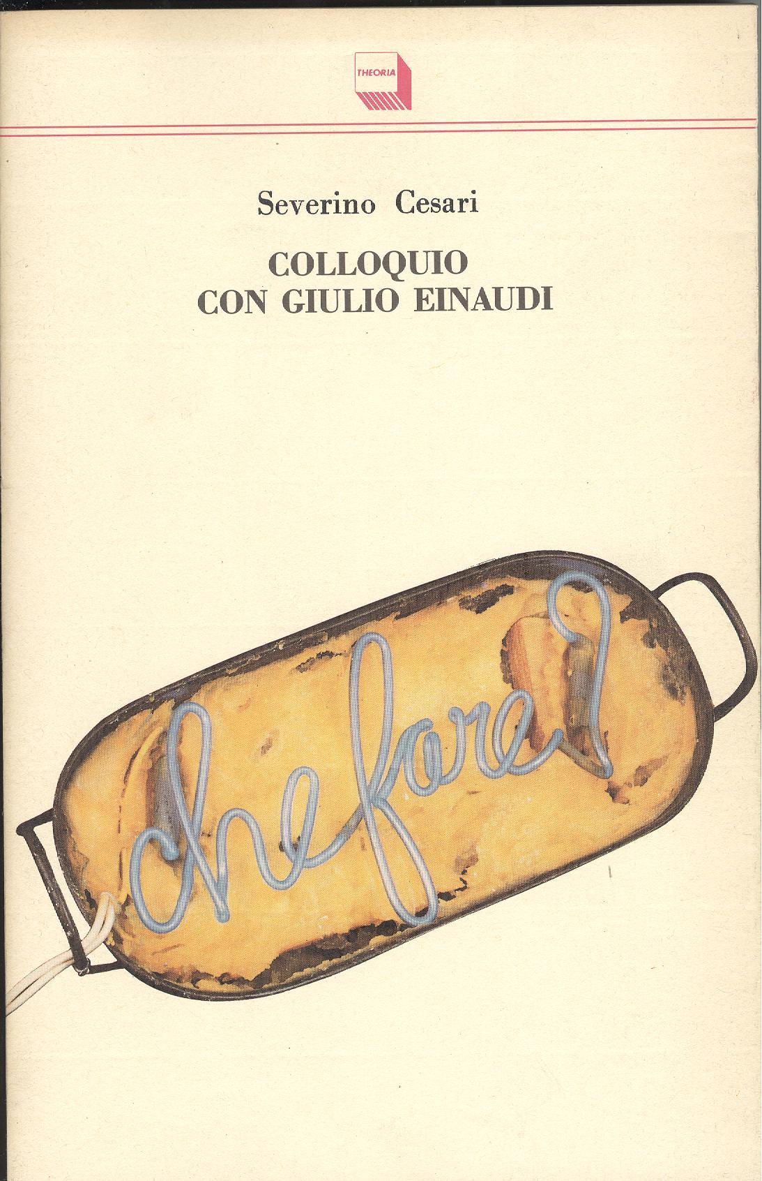 Colloquio con Giulio Einaudi