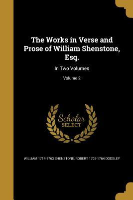 WORKS IN VERSE & PROSE OF WILL